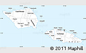 Silver Style Simple Map of Samoa