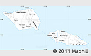Silver Style Simple Map of Samoa, single color outside