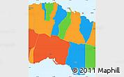 Political Simple Map of Tuamasaga