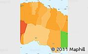 Political Shades Simple Map of Tuamasaga, political outside