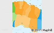 Political Shades Simple Map of Tuamasaga