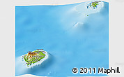 Physical Panoramic Map of Sao Tome and Principe