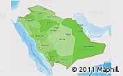 Political Shades 3D Map of Saudi Arabia, single color outside