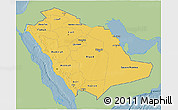 Savanna Style 3D Map of Saudi Arabia, single color outside