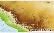Physical Panoramic Map of Asir