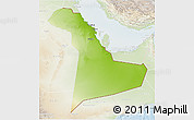 Physical 3D Map of Eastern Province, lighten