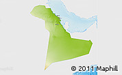 Physical 3D Map of Eastern Province, single color outside