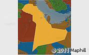 Political 3D Map of Eastern Province, darken