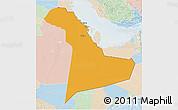 Political 3D Map of Eastern Province, lighten