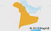 Political 3D Map of Eastern Province, single color outside