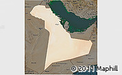 Satellite 3D Map of Eastern Province, darken