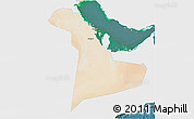 Satellite 3D Map of Eastern Province, single color outside