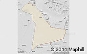 Shaded Relief 3D Map of Eastern Province, desaturated