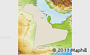 Shaded Relief 3D Map of Eastern Province, physical outside