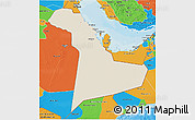 Shaded Relief 3D Map of Eastern Province, political outside