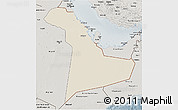 Shaded Relief 3D Map of Eastern Province, semi-desaturated
