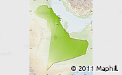 Physical Map of Eastern Province, lighten