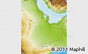 Physical Map of Eastern Province