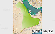 Physical Map of Eastern Province, satellite outside