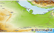 Physical Panoramic Map of Eastern Province