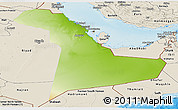 Physical Panoramic Map of Eastern Province, shaded relief outside