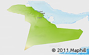 Physical Panoramic Map of Eastern Province, single color outside