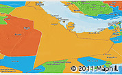 Political Panoramic Map of Eastern Province