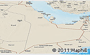 Shaded Relief Panoramic Map of Eastern Province