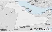 Silver Style Panoramic Map of Eastern Province