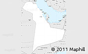 Silver Style Simple Map of Eastern Province