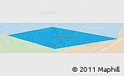 Political Panoramic Map of IRQ/SAU Neutral Zone, lighten