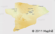 Physical 3D Map of Jawf, cropped outside