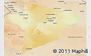 Physical 3D Map of Jawf, satellite outside