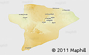 Physical 3D Map of Jawf, single color outside