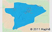 Political 3D Map of Jawf, lighten