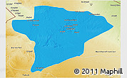 Political 3D Map of Jawf, physical outside