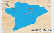 Political 3D Map of Jawf, satellite outside
