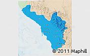 Political 3D Map of Jizan, lighten