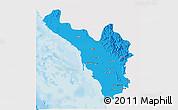 Political 3D Map of Jizan, single color outside