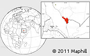 Blank Location Map of Jizan