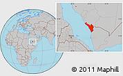 Gray Location Map of Jizan