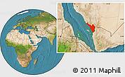 Satellite Location Map of Jizan