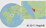 Savanna Style Location Map of Jizan