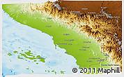Physical Panoramic Map of Jizan