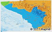 Political Panoramic Map of Jizan