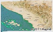 Satellite Panoramic Map of Jizan