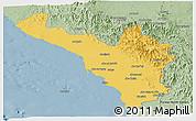 Savanna Style Panoramic Map of Jizan