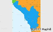 Political Simple Map of Jizan