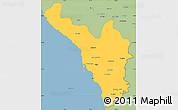 Savanna Style Simple Map of Jizan
