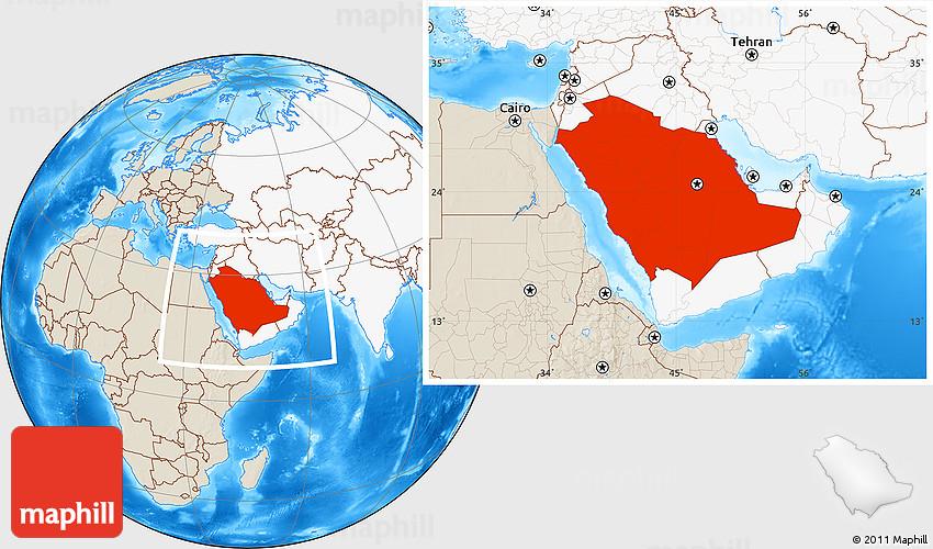 Где находиться аравия на карте мира